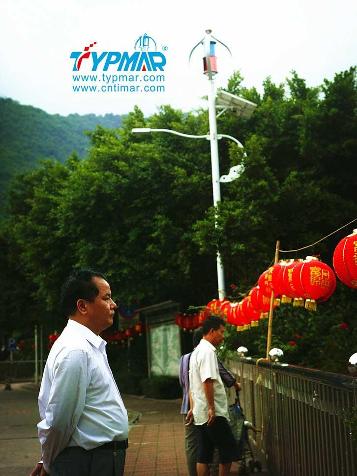 深圳梧桐山风光互补路灯工程 风力发电机