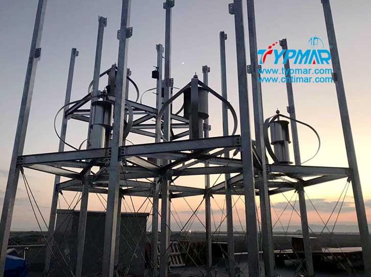 日本屋顶磁悬浮风力发电机组风力发电机安装