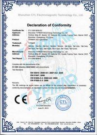 泰玛LED路灯/隧道灯CE证书-EC