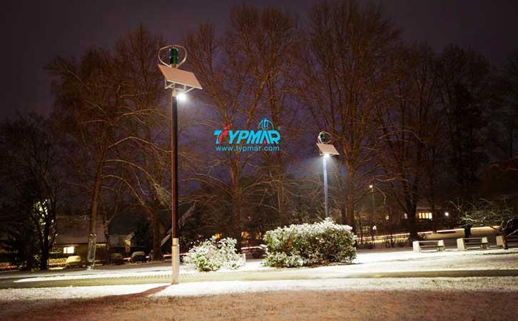 斯洛文尼亚风光互补路灯工程 夜景