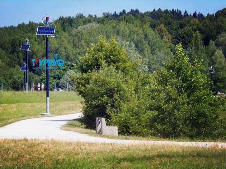 斯洛文尼亚风光互补路灯工程 路灯