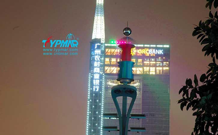 广州亚运会风光互补路灯工程 夜景