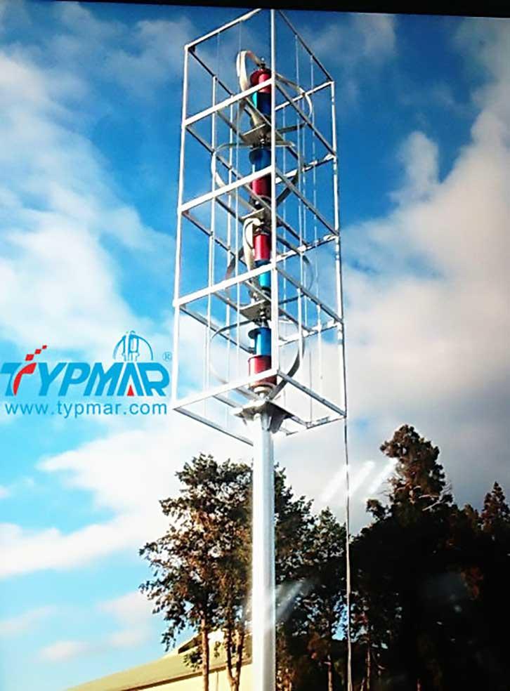 日本组合风机系统 风力发电机组