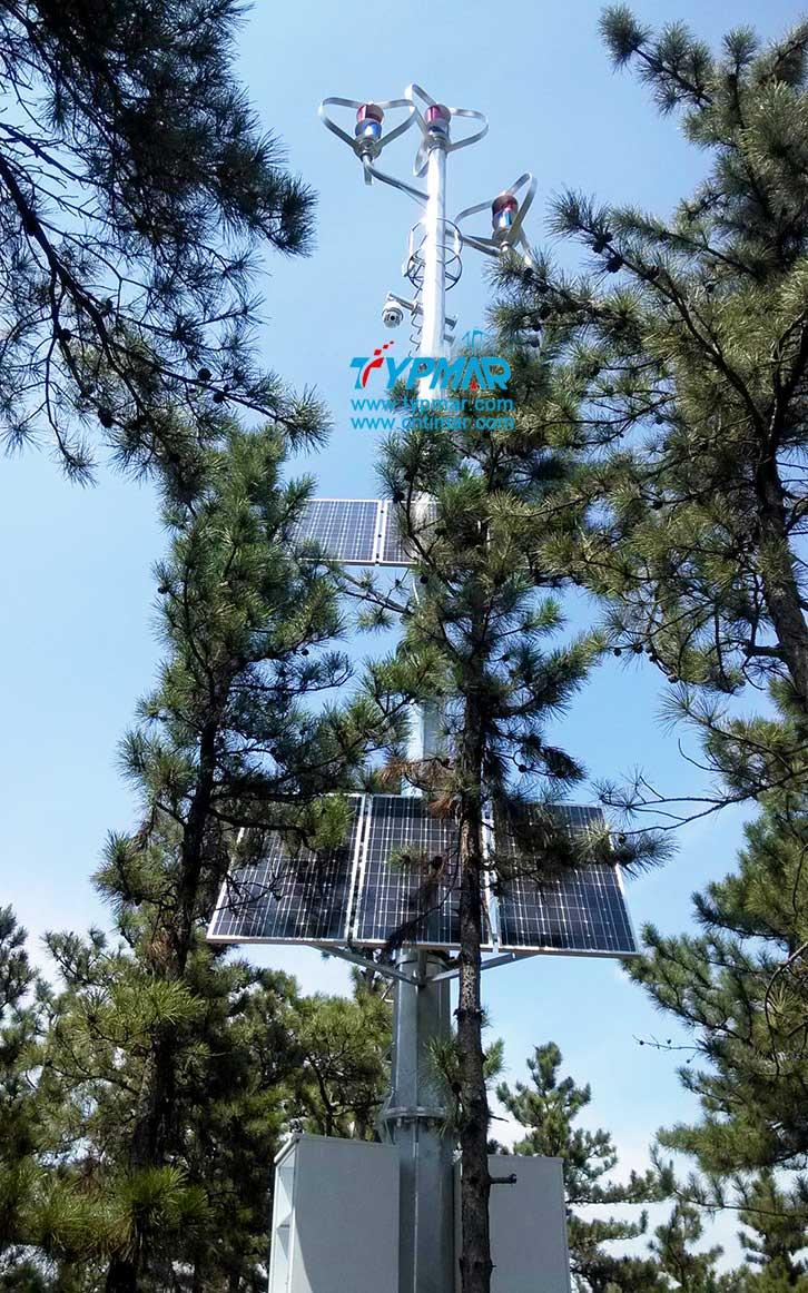 辽宁朝阳文物保护区监控供电系统 风力发电机和光伏系统