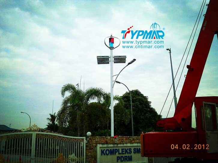 马来西亚风光互补路灯工程 风力发电机