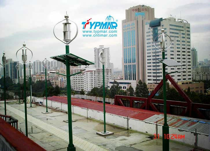 深圳下梅林汽修大楼发电厂工程 风力发电机