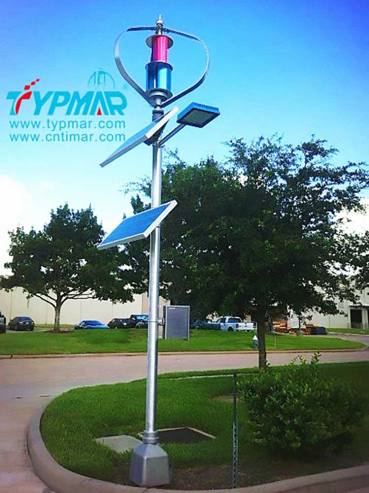 美国风光互补路灯工程 磁悬浮风力发电机